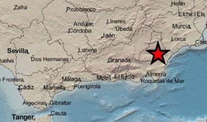 Registrado un terremoto de magnitud 3,4 al noroeste de Arboleas (Almería)