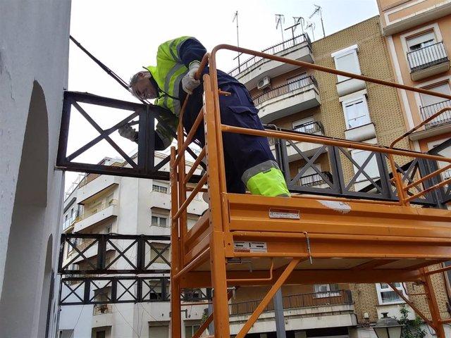 El Ayuntamiento de Huelva ejecuta en diciembre 36 obras de mantenimiento en la ciudad