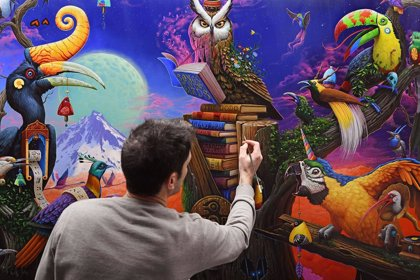 El artista valenciano Dulk lleva a Nueva York una exposición con mensaje ecologista y llena de color