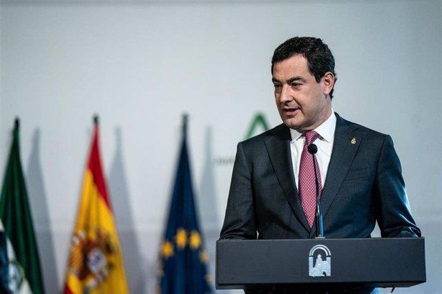 El presidente de la Junta, Juanma Moreno.