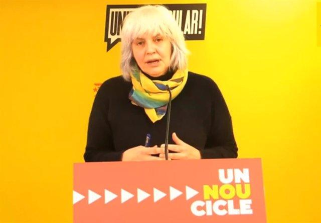 La candidata de la CUP a la presidencia de la Generalitat, Dolors Sabater.