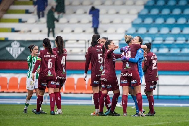 Victory of EDL Logrono for 1-3 during the spanish women league, Primera Iberdrola, football match played between Real Betis Balompie Femenino and EDL Logrono at Felipe del Valle Stadium on December 19, 2020 in Sevilla, Spain.