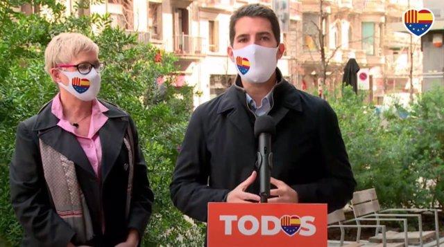 El diputat de Cs Nacho Martín Blanco i la número 2 a les eleccions catalanes, Anna Grau.