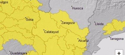 Aviso amarillo por viento en varias zonas de Aragón y por nevadas en el Pirineo