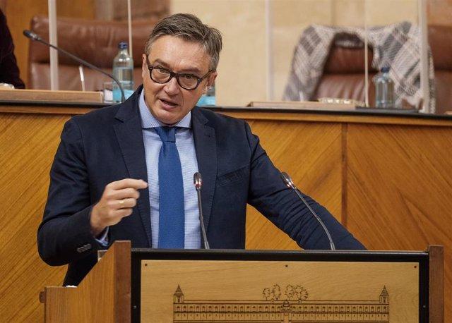 El parlamentario andaluz de Vox Manuel Gavira, en una foto de archivo.