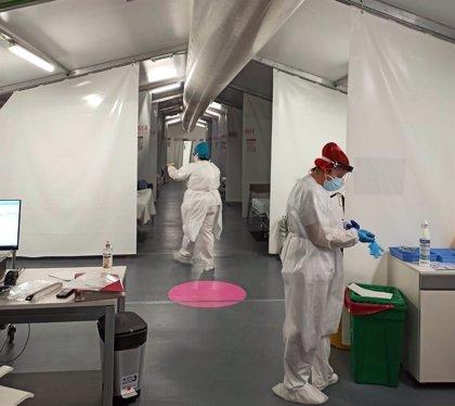 El hospital de campaña de la provincia de Castellón recibe a los primeros pacientes con Covid