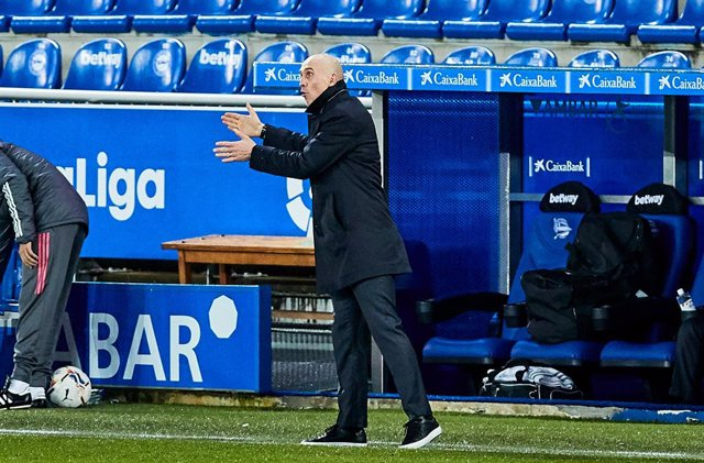 David Bettoni, second coach of Real Madrid CF, during the Spanish league, La Liga Santander, football match played between Deportivo Alaves and Real Madrid CF at Mendizorroza stadium on January 23, 2021 in Vitoria, Spain.