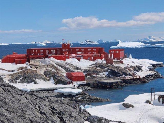 Base Antártica O'Higgins en la Antártida chilena.