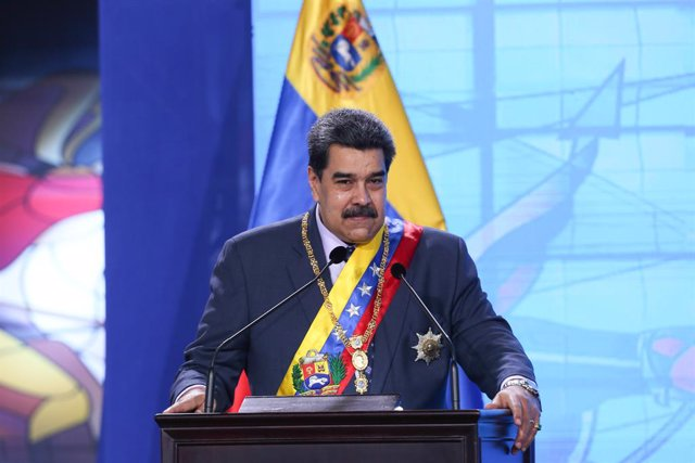 HANDOUT - 22 January 2021, Venezuela, Caracas: Venezuelan president Nicolas Maduro speaks during a ceremony to mark the start of the Supreme Court's new working year. Photo: -/Prensa Miraflores/dpa - ACHTUNG: Nur zur redaktionellen Verwendung und nur mit