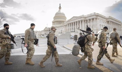 La Guardia Nacional de EEUU mantendrá a 7.000 de sus miembros en Washington hasta mediados de marzo