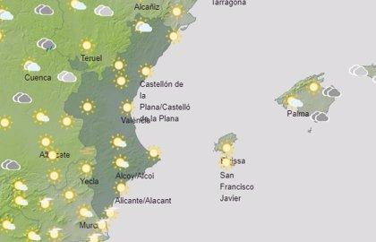 Rachas fuertes de viento del oeste y temperaturas en ascenso este domingo en la Comunitat