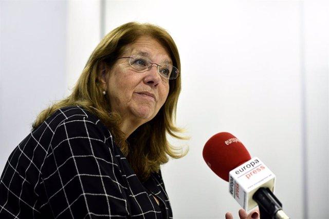 La candidata número 5 del PP al Congreso de los Diputados por Madrid, Elvira Rodríguez, durante una entrevista para Europa Press.