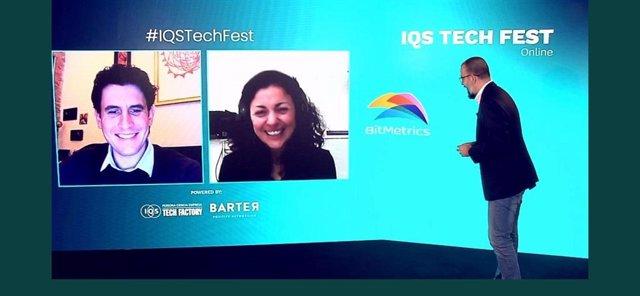 Els guanyadors del premi a la startup industrial més prometedora del 2020, Bitmetrics a l'IQS Tech Fest