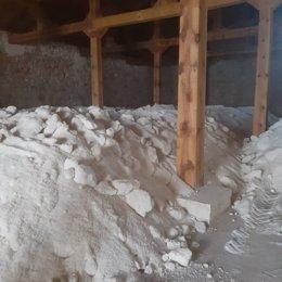 Sal extraída de las salinas de San Juan, en Saelices de la Sal (Guadalajara)