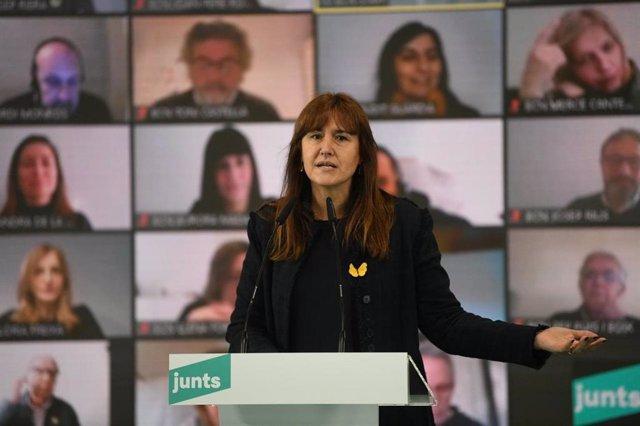La candidata de JxCat a la Presidència de la Generalitat, Laura Borràs.