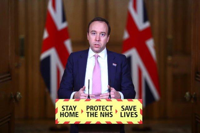 El ministro de Sanidad británico, Matt Hancock