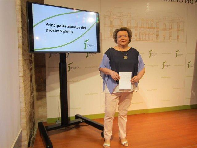 La portavoz del PSOE en la Diputación de Jaén, Pilar Parra, foto de archivo