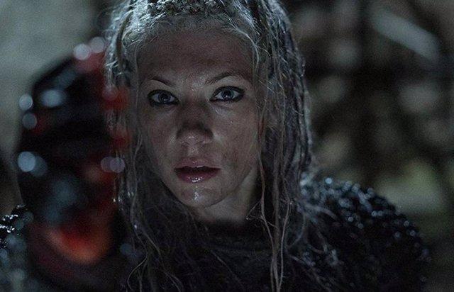 Lagertha (Katheryn Winnick) en Vikingos