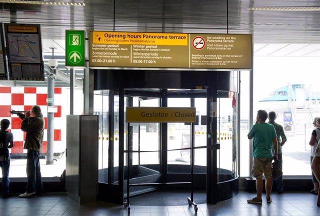 El aeropuerto holandés de Schiphol