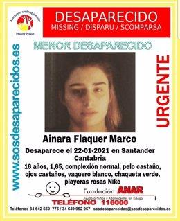 Joven desaparecida en Santander