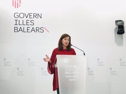 Armengol presidirá este lunes la reunión de la Mesa de Diálogo Social de Baleares por la COVID