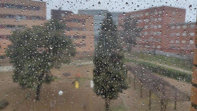 Gotas de lluvia en una ventana