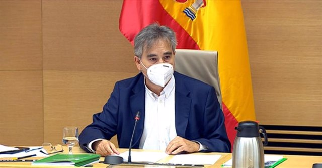 El presidente del Sindicato de Enfermería (Satse), Manuel Cascos, comparece ante la Comisión de Sanidad y Consumo del Congreso para defender la Ley de Seguridad del Paciente. En Madrid (España), a 13 de octubre de 2020.