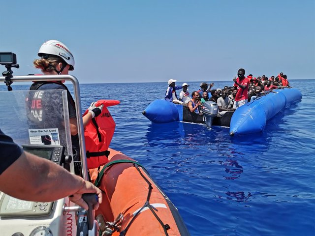 Rescate de migrantes en el mar Mediterráneo