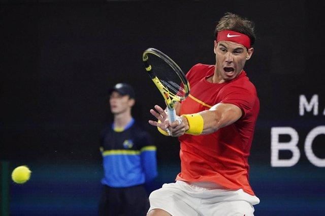 Rafael Nadal, durante la final de la ATP Cup.