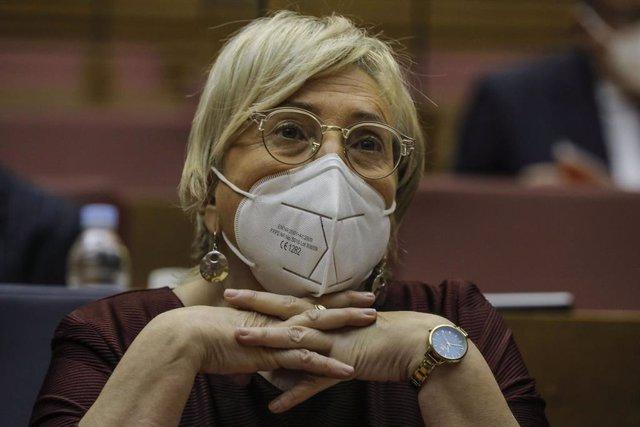 La consellera de Sanidad de la Comunidad Valenciana, Ana Barceló, comparece en la Diputación Permanente de Les Corts