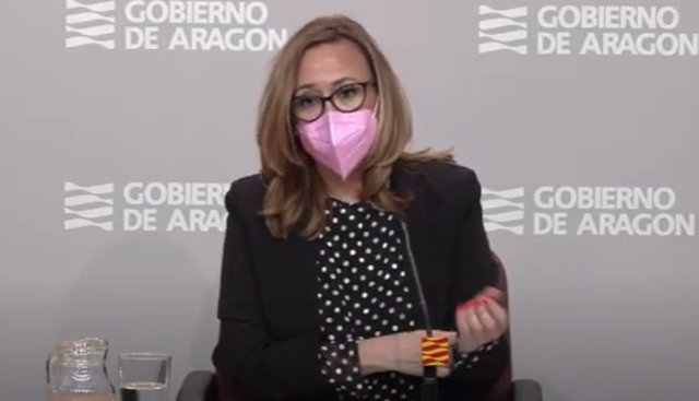 La consejera de Prensidencia, Mayte Pérez, en la rueda de prensa posterior al Consejo de Gobierno.