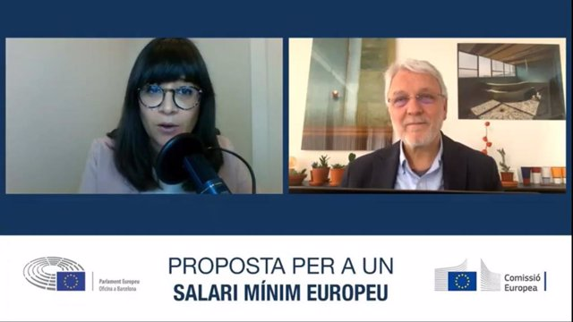El director de la Direcció General d'Ocupació, Afers Socials i Inclusió de la CE, Jordi Curell, durant la seva intervenció.