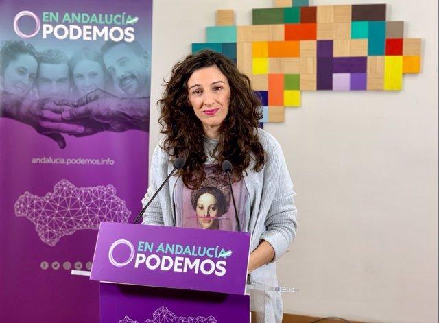 La secretaria de Servicios Públicos de Podemos Andalucía, Libertad Benítez.