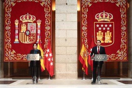 """Ayuso y Aguado anuncian un acuerdo de Presupuestos para """"reactivar"""" Madrid con la economía como objetivo prioritario"""