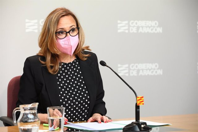Mayte Pérez en la rueda de prensa posterior al Consejo de Gobierno.
