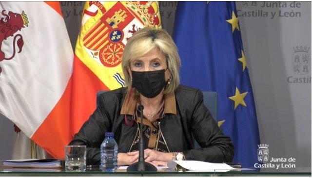 Captura de la comparecencia de Verónica Casado.