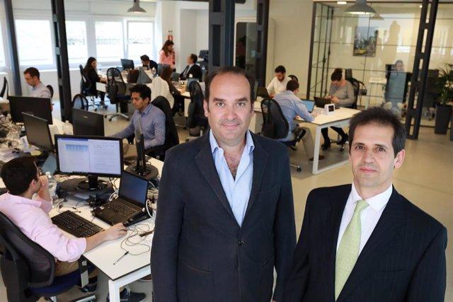 (I-D9 Alfonso de León y Francisco Velazquez, socios de la firma de venture capital Axon