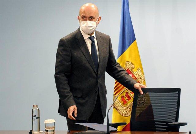 El Ministre de Salut Andorrà, Joan Martínez Benazet