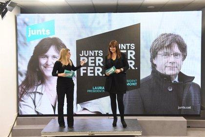 JxCat busca movilizar el voto en una campaña que contará con la presencia diaria de Puigdemont