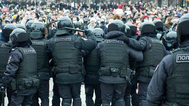 Protestes en suport a Aleksei Navalni a Moscou