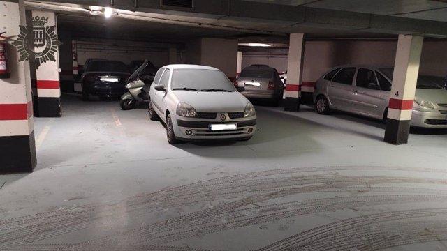 Daños en el garaje comunitario de Logroño realizado por menores