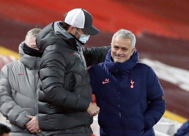 Klopp (Liverpool) y Mourinho (Tottenham)