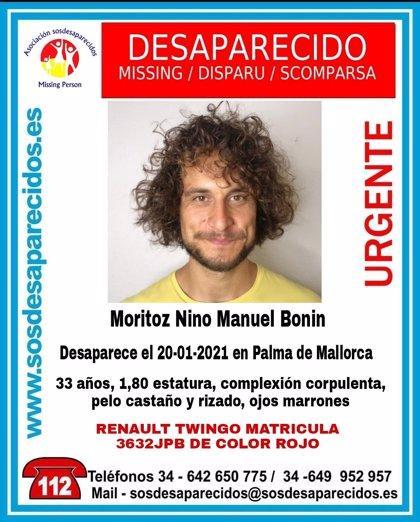 Buscan a un joven de 33 años desaparecido desde el pasado miércoles en Palma