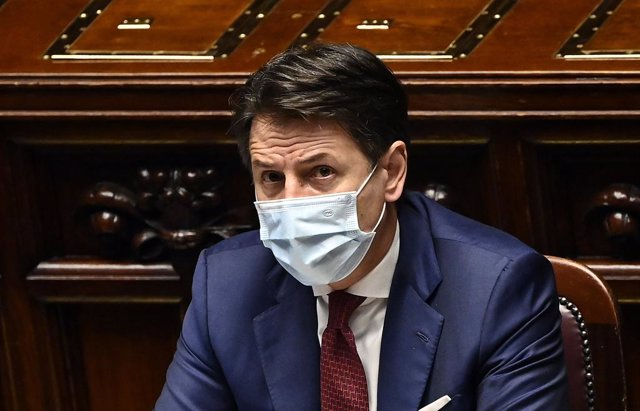 09 December 2020, Italy, Rome: Italian Prime Minister Giuseppe Conte attends a meeting of the Italian Chamber of Deputies on the upcoming European Council meeting and the Eurozone bailout fund (ESM). Photo: Riccardo Antimiani/LaPresse via ZUMA Press/dpa