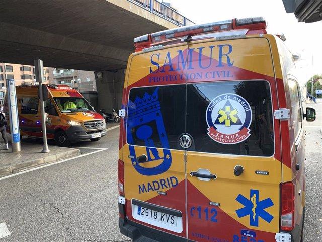 Imagen de archivo de una ambulancia de Samur Protección Civil