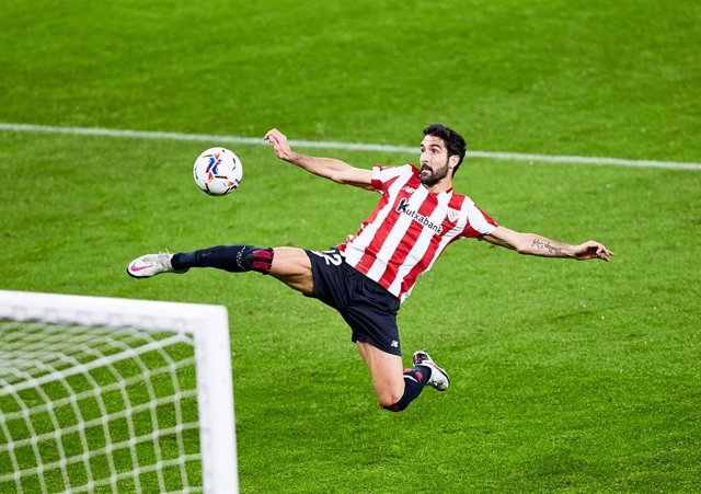 Raul Garcia of Athletic Club scoring his goal during the Spanish league, La Liga Santander, football match played between Athletic Club and Getafe CF at San Mames stadium on January 25, 2021 in Bilbao, Spain.