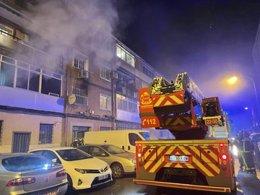 Incendio en Alcalá de Henares (Madrid)