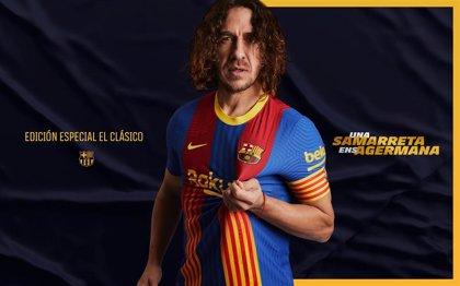 El Barça lucirá en el Clásico una camiseta inspirada en Puyol con los colores del club y la 'senyera'
