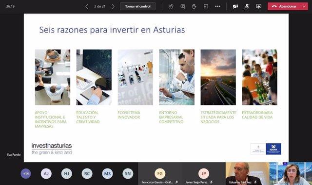 Idepa y Compromiso Asturias XXI reúnen de manera telemática con inversores de Latinoamérica interesados en participar en empresas regionales.