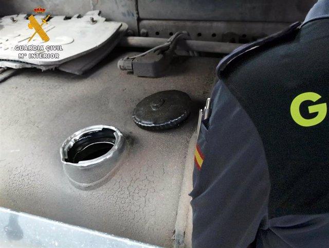 Robo de gasoil en camiones